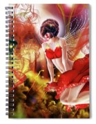 Flying Flower.. Eve Spiral Notebook