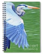 Flying Great Blue Heron Spiral Notebook