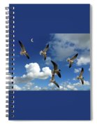 Flying High In The Clouds Spiral Notebook