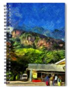 Flying Into Paradise Spiral Notebook