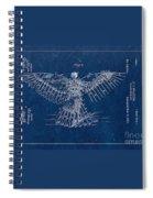 Flying Machine 1889 - Blue Spiral Notebook