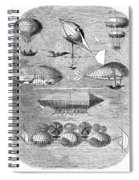Flying Machines, 1856 Spiral Notebook
