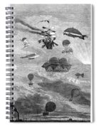 Flying Machines, 1864 Spiral Notebook