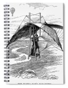 Flying Mans Parachute Spiral Notebook