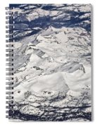 Flying Over Colorado Rocky Mountains Spiral Notebook