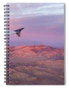 Flying Over The Mojave Desert At Sunrise Spiral Notebook
