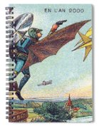 Flying Policemen, 1900s French Postcard Spiral Notebook