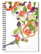Flying Salad Spiral Notebook