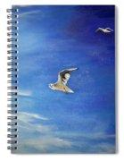 Flying Seagulls Spiral Notebook