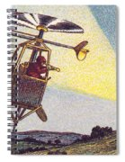 Flying Sentinel, 1900s French Postcard Spiral Notebook