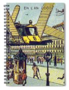 Flying Taxicabs, 1900s French Postcard Spiral Notebook