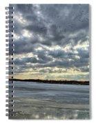 Flying Through Sun Rays 4 Spiral Notebook