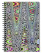Foam On The Beach Abstract Spiral Notebook