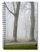 Fog Amongst The Trees Spiral Notebook