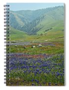 Fog And Wildflowers At Bear Mountain Spiral Notebook
