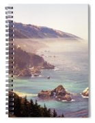 Fog Big Sur Spiral Notebook