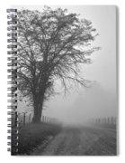Fog Covered Lane Spiral Notebook