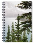 Fog Going Down At Lake Moraine Spiral Notebook