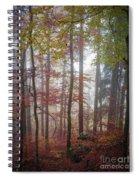 Fog In Autumn Forest Spiral Notebook