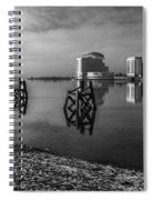 Fog In The Bay 1 Mono Spiral Notebook