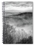 Fog In The Mountains - Pipestem State Park Spiral Notebook