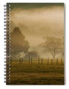 Fog In The Park Spiral Notebook