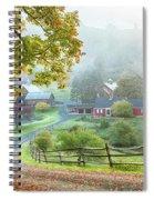 Fog On Sleepy Hollow Farm Spiral Notebook
