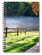 Fog On The River Spiral Notebook