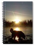 Fog Over Mississippi River Spiral Notebook