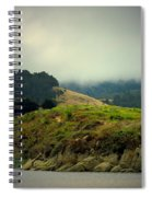Fog Over The Lagoon Spiral Notebook
