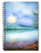 Fog Over The Lake Spiral Notebook
