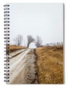 Foggy Country Road Spiral Notebook