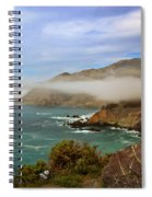 Foggy Day At Big Sur Spiral Notebook