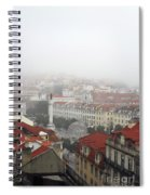 Foggy Day At Lisbon. Portugal Spiral Notebook