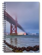 Foggy Day At The Golden Gate Bridge Spiral Notebook
