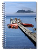 Foggy Dock Spiral Notebook