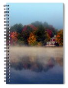 Foggy Fall Reflections Spiral Notebook