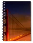 Foggy Golden Gate At Sunset Spiral Notebook
