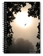 Foggy Heron Flight Spiral Notebook