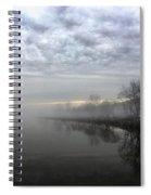 Foggy Hudson River Shore Spiral Notebook