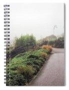 Foggy Langmoor Gardens - Lyme Regis Spiral Notebook