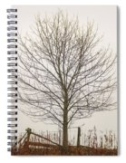 Foggy Lone Tree Hill Spiral Notebook