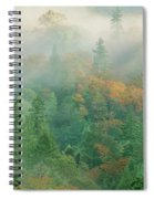 Foggy Morning In Humbolt County California Spiral Notebook