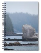 Foggy Morning On The Pacific Coast Spiral Notebook
