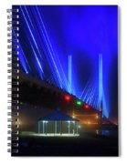 Foggy Night At The Indian River Bridge Spiral Notebook