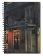 Foggy Night On Dumaine Spiral Notebook