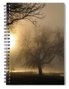 Foggy November Sunrise On The Bay Spiral Notebook