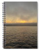 Foggy Sunset Spiral Notebook