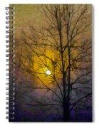 Foggy Sunset Spiral Notebook
