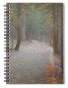 Foggy Trail Near Bear Lake Spiral Notebook